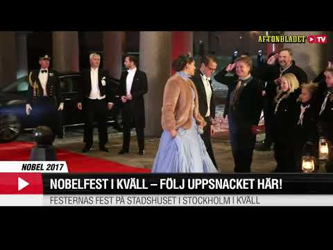 The Swedish Royal Family arrives to the Nobel Prize ceremony