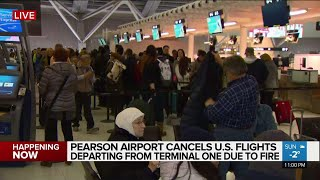 U.S. flights from Pearson's Terminal 1 cancelled after fire thumbnail
