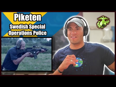 US Marine reacts to Swedish Piketen (Special Operations Police)
