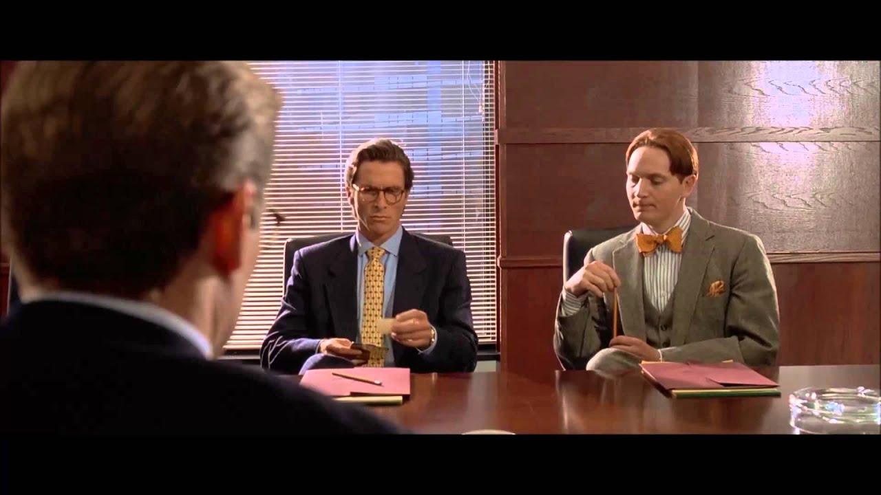 American Psycho- Business Card Scene - YouTube