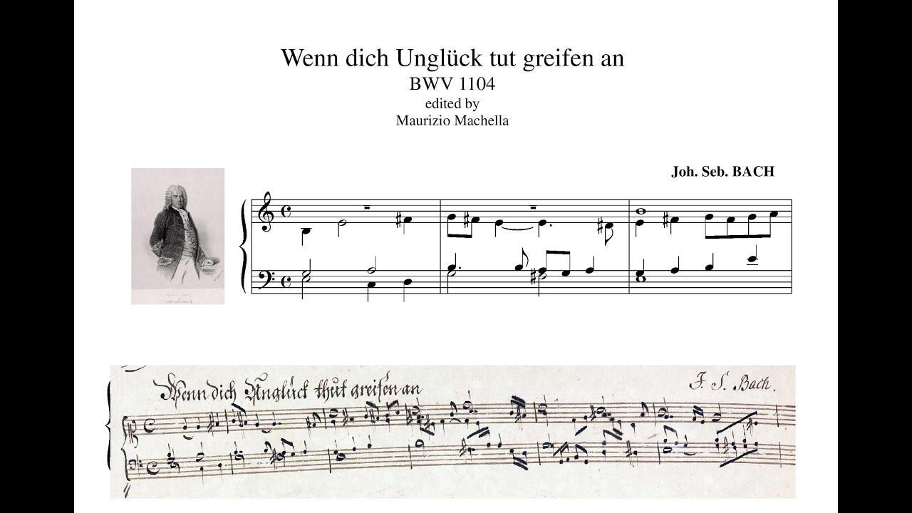 Download J.S. Bach Wenn dich Unglck tut greifen an (BWV 1104)