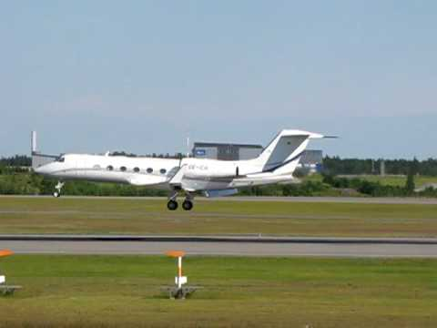 Global Jet Austria Gulfstream Aerospace Gulfstream 450 Landing at EFHK