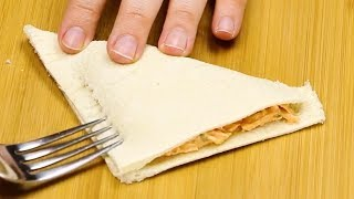Für diese knusprigen Pizza-Taschen brauchst du keinen Teig.