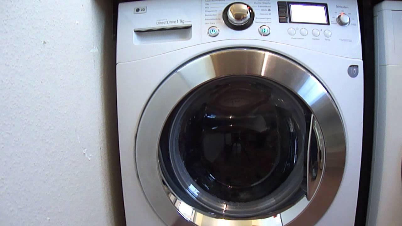 waschmaschine lg f1443 kg waschen 2 0 youtube