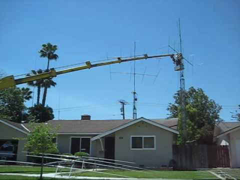 Benny S Ham Radio Antenna And Tower Work Youtube