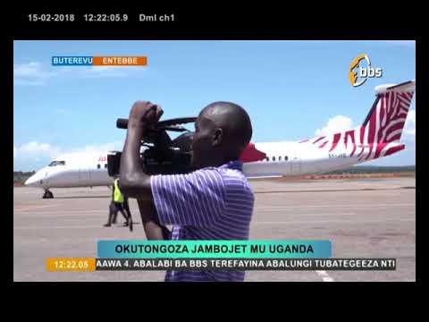 OKUTONGOZA JAMBO JET MU UGANDA-ENTEBBE AIRPORT
