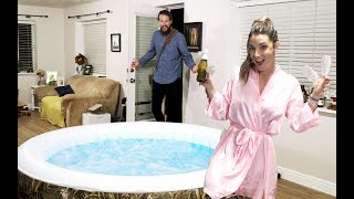 Video WIFE SURPRISES HUSBAND WITH HOT TUB IN LIVING ROOM! download MP3, 3GP, MP4, WEBM, AVI, FLV Juni 2018