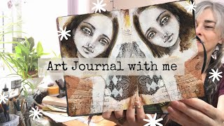 ART JOURNAL WITH ME FOR SELF CARE with some mixed media art journaling screenshot 3