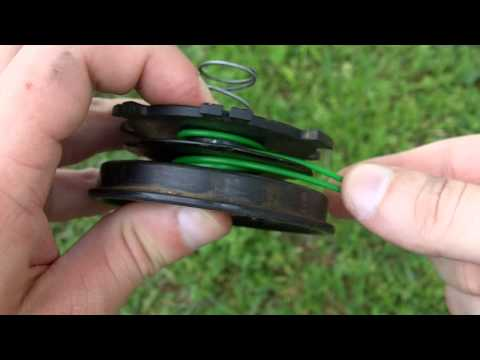 How To Reload String on a Homelite Trimmer