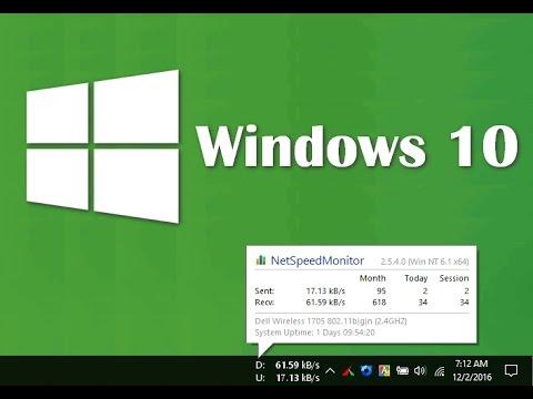 Net Speed Monitor Windows 10 Fixed Best Alternative Of Du Meter Fully Free Youtube