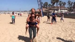 Sprint relay at DRS Beach WOD!!