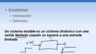 054 Sistemas de Control Estabilidad Introduccion