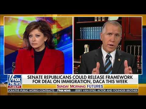 Senator Tillis Talks with Maria Bartiromo about DACA and Border Security