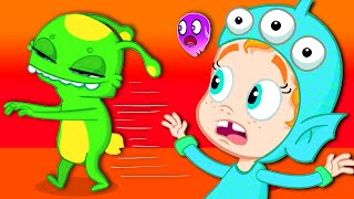 🎃 Groovy The Martian HALLOWEEN NIGHT FULL EPISODE evil witch spell! Cartoon for kids Nursery Rhymes