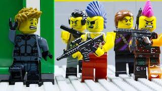 LEGO land | Secret Assassination Mission: Lego Warehouse Shootout | Lego Stop Motion Animation