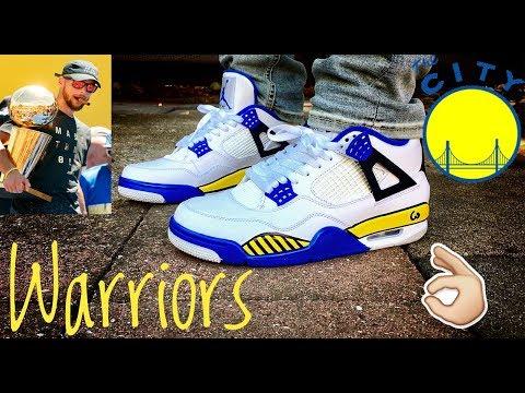 """Air Jordan 4 """"Golden State Warriors"""" w"""