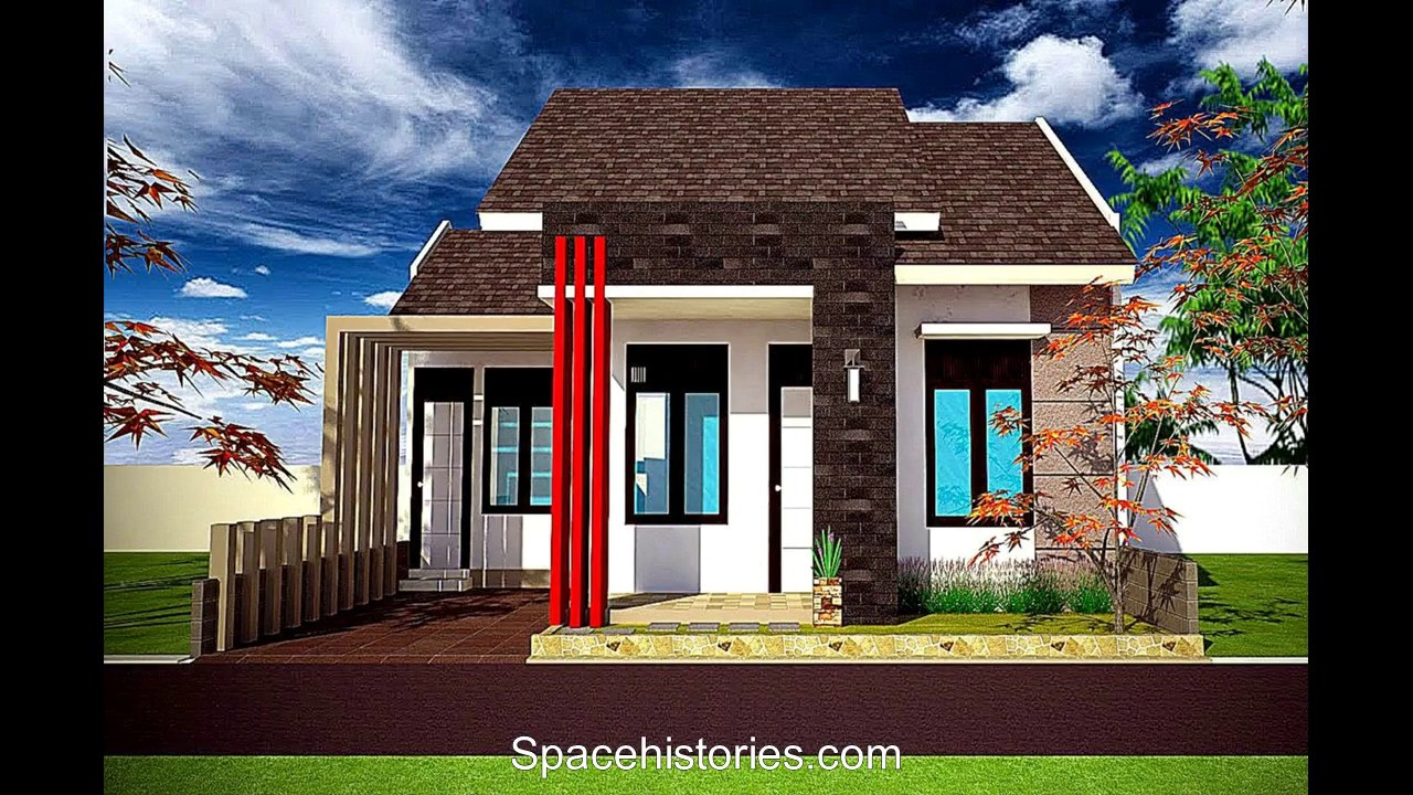 Model Minimalist Front With Natural Stone