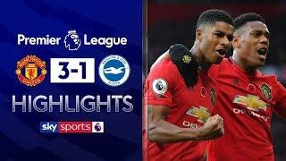 Rashford stars in dominant performance🌟| Manchester United 3-1 Brighton | Premier League Highlights