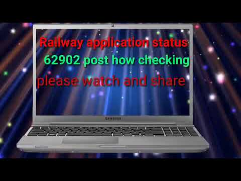 Check your railway application status your form accept or rejected