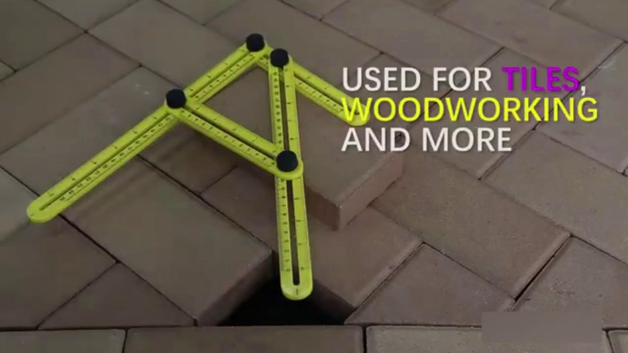 Magic Ruler MultiAngle Ruler Floor  Tile Cutting