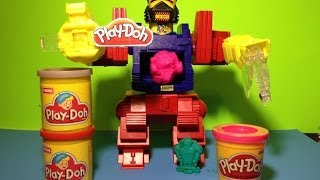 PLAY-DOH Toy Bot How to Make Play Doh Robot Playset Toy
