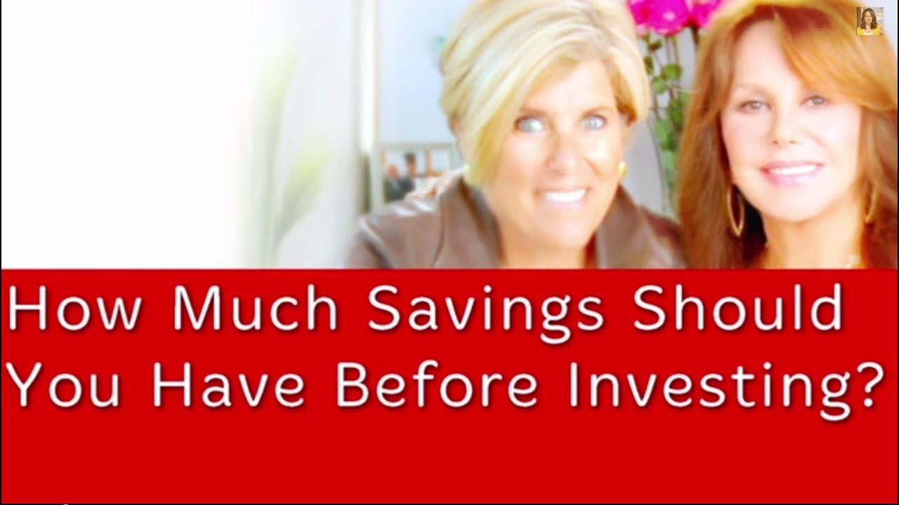 How Much Savings Should You Have Before Investing? | Suze Orman