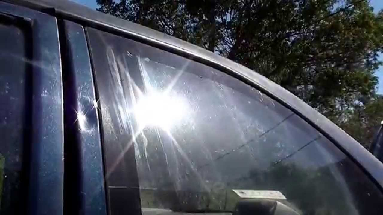 Remove Water Spots From Glass >> Remove water spot and acid rain from any surface - YouTube