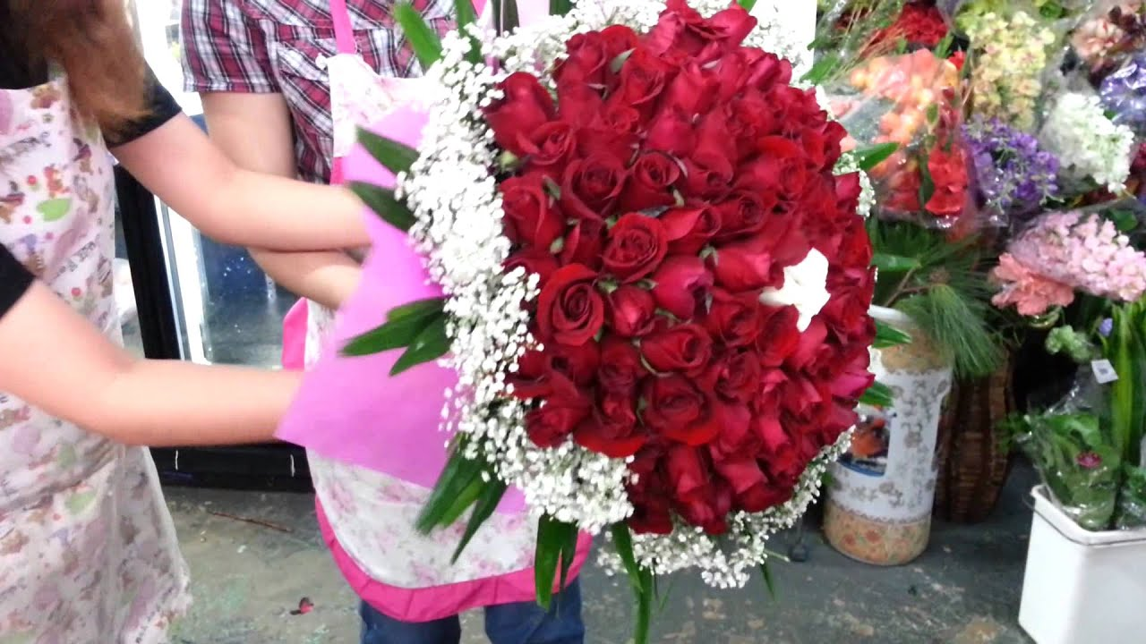 How To Make Roses Hand Bouquet Singapore Florist Youtube