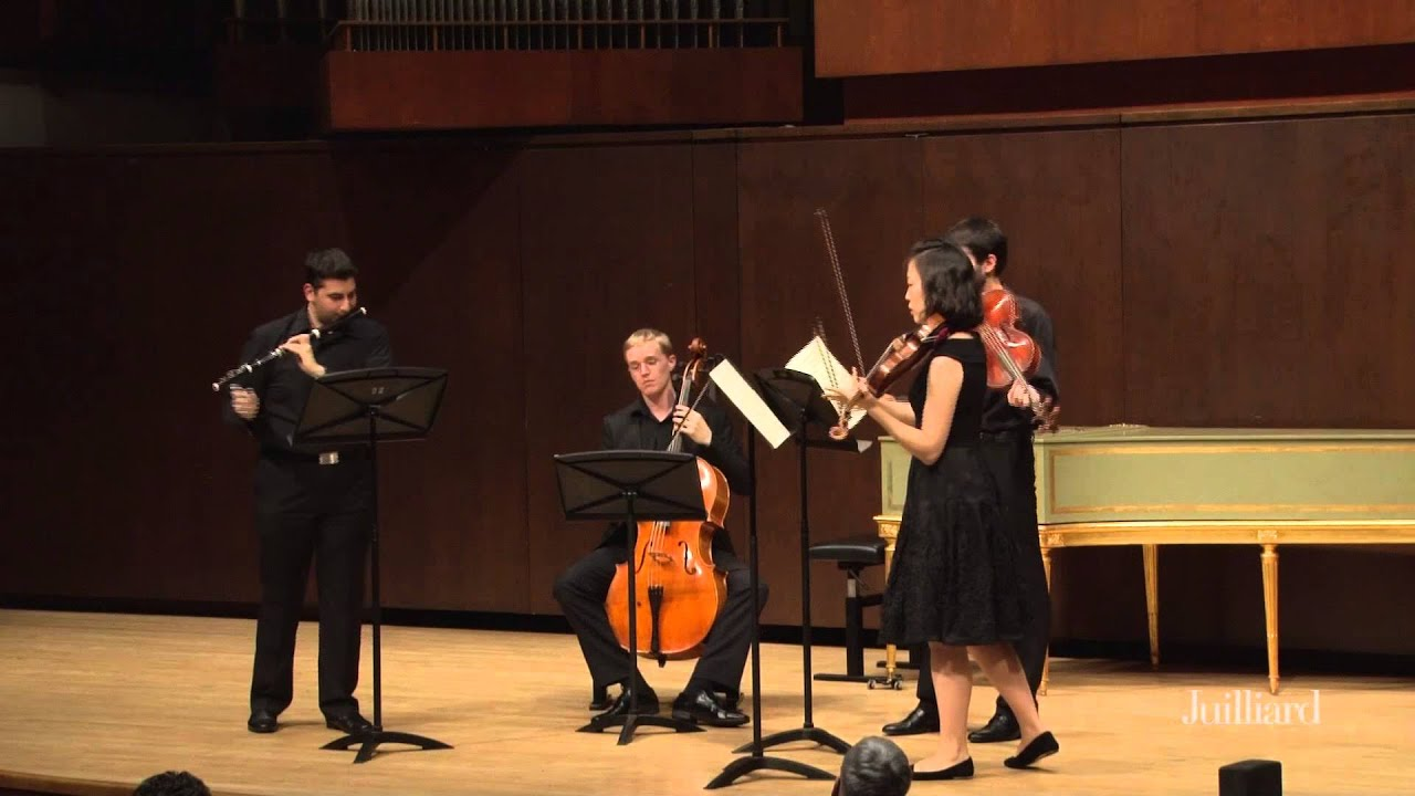 Pablo Heras-Casado Master Class at The Juilliard School: Mozart, Flute Quartet No. 1