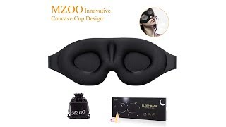 Eye Mask for Men Women, 3D Contoured Cup Sleeping Mask