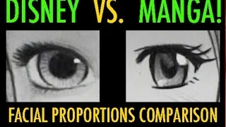 Disney Vs. Manga: Facial Proportions Compared thumbnail
