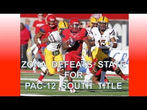 Arizona Offense vs Arizona St for PAC-12 South Division Title