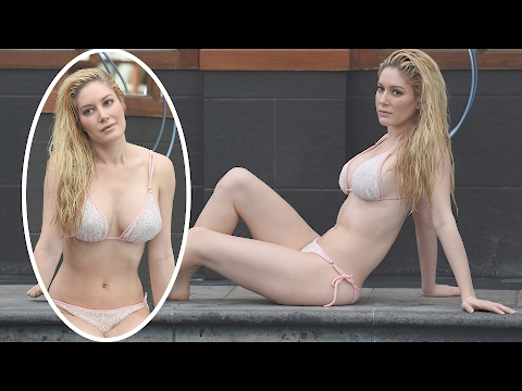 Heidi Montag Shows Off Her Body by London Pool | Splash News TV