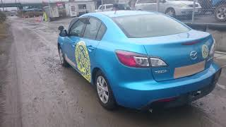 Видео-тест автомобиля Mazda Axela (синий, Bl6fj-100500, Z6, 2009)