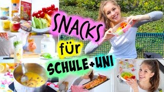 5 einfache SNACK-IDEEN für die SCHULE+UNI | BarbieLovesLipsticks
