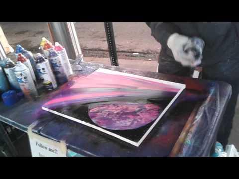 NYC spray paint art! Amazing talent!