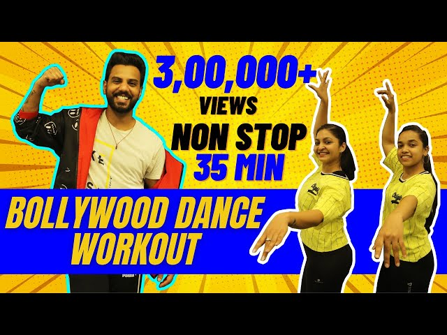 Bollywood Dance Workout At Home | 35 Mins Non Stop Fat Burning Cardio 🔥 | FITNESS DANCE With RAHUL