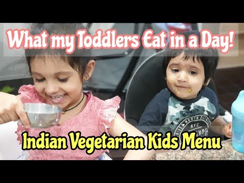 What My Indian Toddlers Eat In A Day | Indian Vegetarian Kids Menu | Healthy Recipes