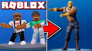 2 PLAYER FORTNITE DANCE CHALLENGE IN ROBLOX
