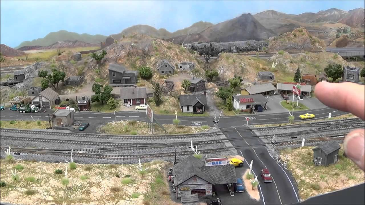 Planning and Executing an N Scale Scene - YouTube