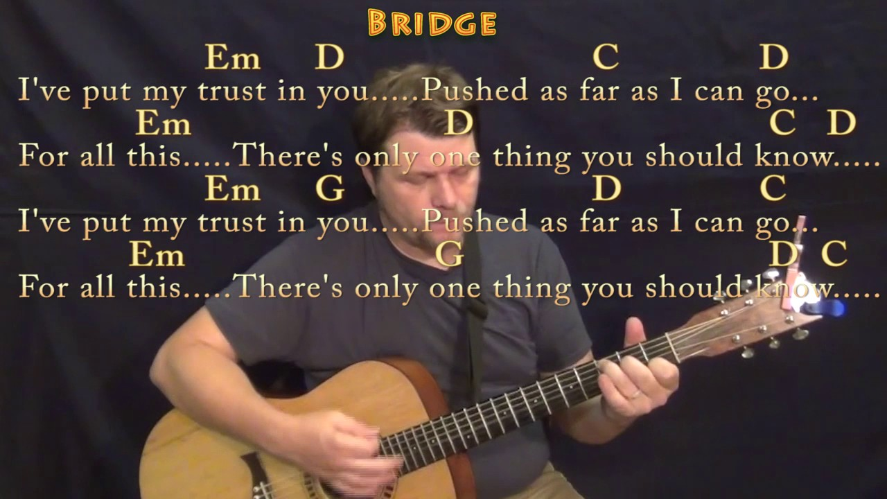 In the end guitar chords