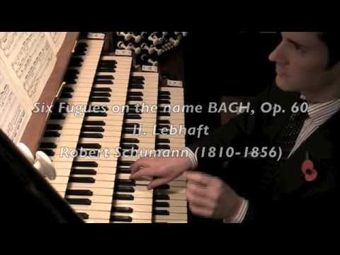 Alistair Reid plays Schumann's Fugue No. 2 on BACH, Westminster Abbey