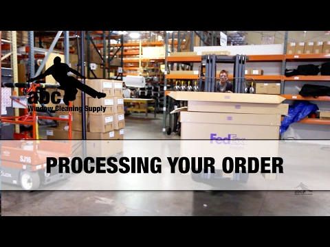 Processing Your Window Cleaning Supply Order