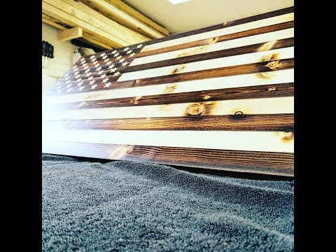 How to: Wooden American Flag Rustic