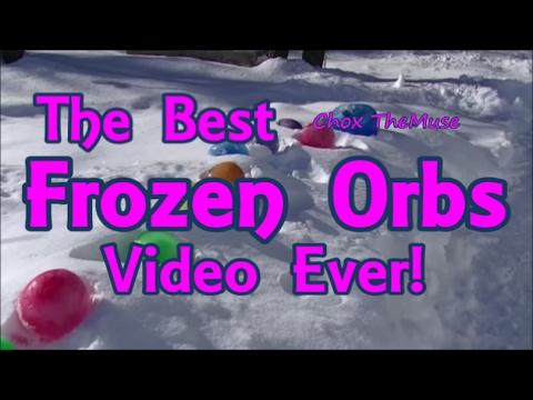 frozen orbs frozen marbles or frozen water balloons easy diy youtube