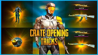 CRATE OPENING TRICKS TO GET LEGENDARY ITEMS IN PUBG MOBILE ( PREMIUM CRATE OPENING )