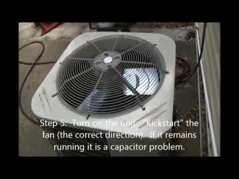 How To Fix Your Ac Outdoor Fan Not Running Youtube