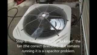 How to fix your AC!  Outdoor fan not running.
