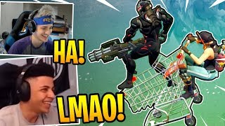 Streamers USING the *NEW* Shopping Cart | SHOPPING CART TROLLS! - Fortnite Best and Funny Moments