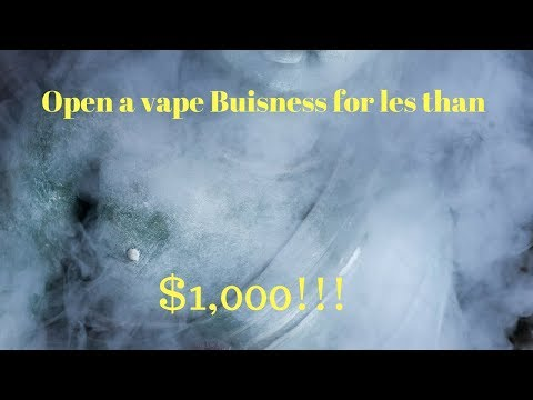 How to start a vape business from nothing